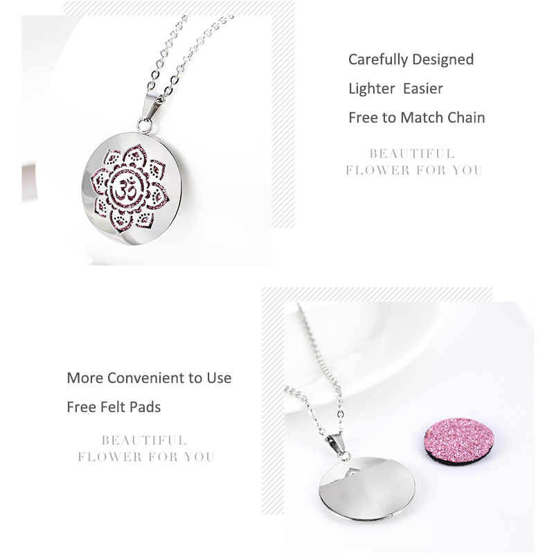 Aromatherapy Essential Oil Diffuser Locket Necklace (56)