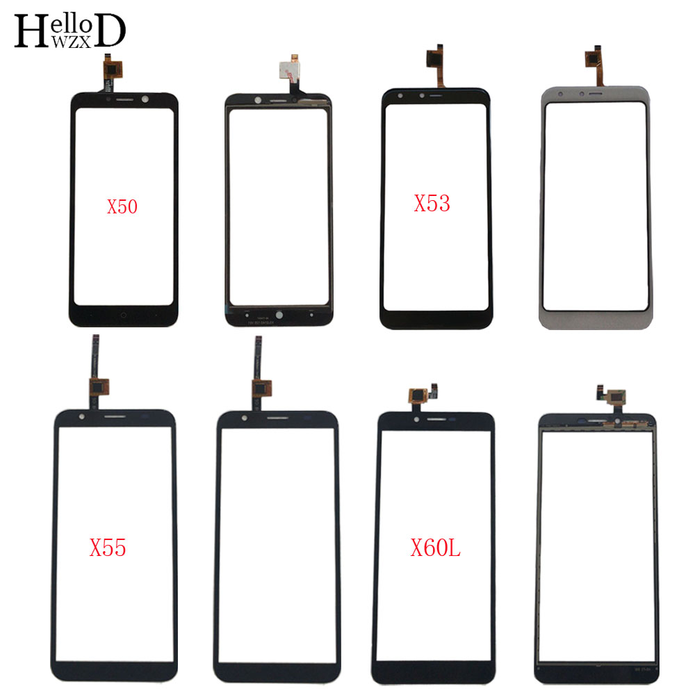 Mobile Touch Screen Panel For Doogee X50 X50L X53 X55 X60L TouchScreen Digitizer Panel Front Glass Lens Sensor 3M Glue Wipes