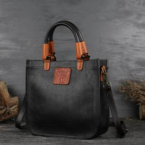 Image 2 - Johnature Designer Handbags High Quality 2020 New Retro Genuine Leather Handmade Women Tote Luxury Shoulder & Crossbody Bags