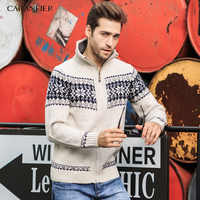 CARANFIER Brand 2019 Knitted Cardigan Sweaters Men,slim Fit V-neck Zipper Fly Clothes Solid printing Sweater Knitwear Coats 3XL