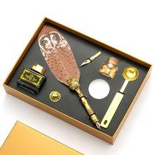 Ручка для каллиграфии в стиле ретро перо совы с наконечником