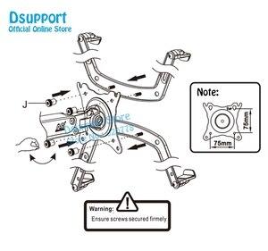 """Image 5 - NB brazo de soporte de Monitor LED F80 + FP 1 para Monitor sin agujero VESA, 17 27 """", resorte de Gas, montaje de puntal de Gas de movimiento completo, carga de 2 6,5 kg"""