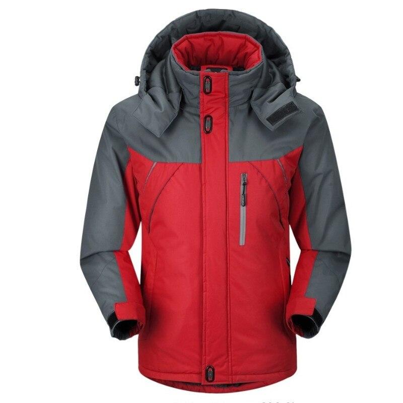 Men's Jacket Winter Waterproof Men's Hiking Jacket Warm Coat Men's Thick Hooded Parkas Men's Plus Velvet Warm Coat