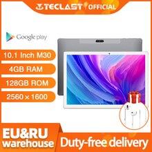 4G Phablet 10.1 Inch Tabletten Android 8.0 Teclast M30 4Gb Ram 128Gb Rom 2560X1600 Tablet pc MT6797 X27 Deca Core 7500Mah Gps