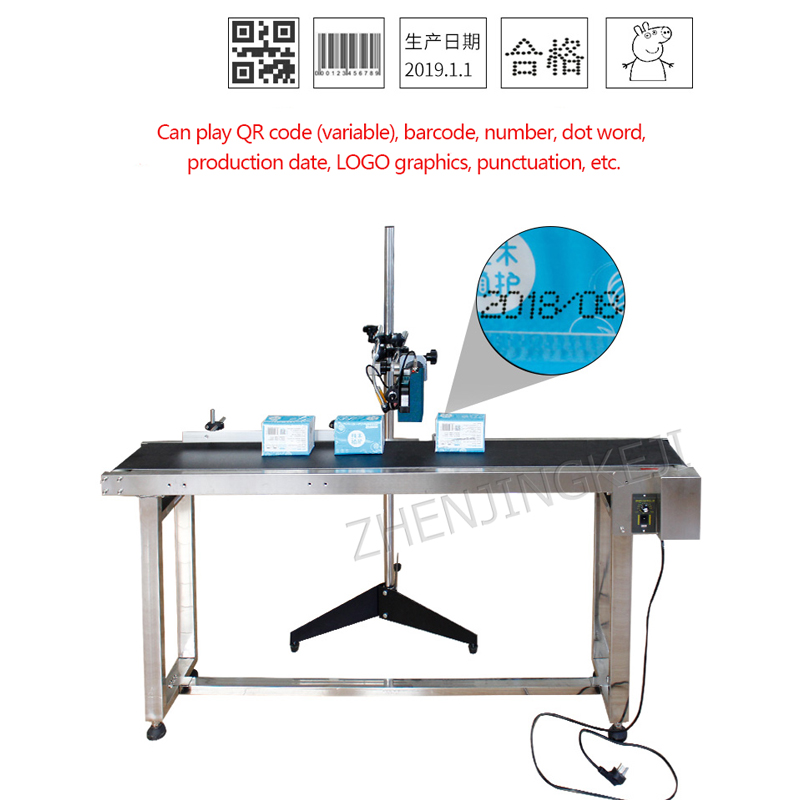 ZM-630 Smart Handheld Inkjet Printer Food Production Date Small Automatic Coding Machine Assembly Line Label Production Line