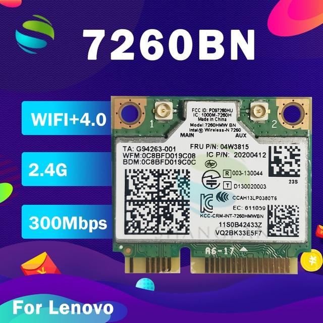 Mini pci e Wifi כרטיס עבור Intel Wireless n 7260 7260HMW 7260BN BT4.0 אלחוטי כרטיס FRU:00JT455 04X6011 עבור lenovo y510p מחשב נייד