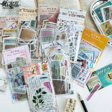 60 Pcs/PACK Retro Letter Newspaper Paper Stickers Scrapbooking Marker Diary School Supplies Stationery Bullet Journal