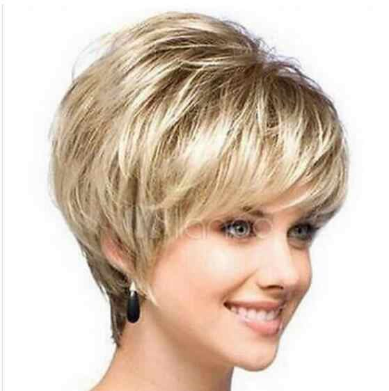 Jewelry Wig New sexy ladies short Blonde Natural Hair wigs  Free Shipping