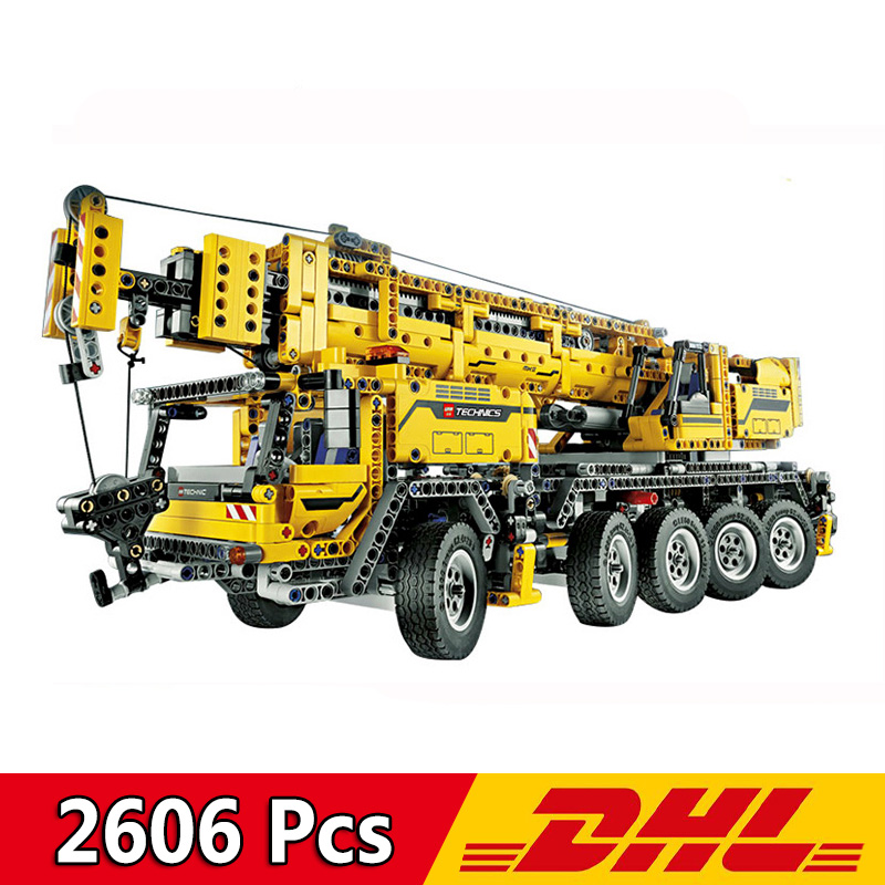 20004 2606Pcs <font><b>Technic</b></font> series Motor Power Mobile Crane Mk II Car Model Building Kits Blocks Bricks Compatible <font><b>Legoings</b></font> <font><b>42009</b></font> Toy image
