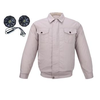 Air Conditioning Clothes Vest Summer Outdoor USB Fan Cooling Air Conditioning Clothing Sun-Protcetive Coat Construction Work Clo air conditioning cool coat fan clothes summer air cooling jacket thin cotton heatstroke proof construction jacket men clothing