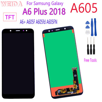 For Samsung Galaxy A6+ A605 A6 Plus 2018 LCD Display Touch Screen Digitizer Assembly For Samsung A605 A605F A605FN Replacement