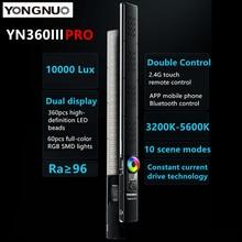YONGNUO YN360IIIPRO צילום LED וידאו קרח אור מגע התאמת עם מרחוק RGB 3200 5600K מקל מנורת עבור Vlog tikTok איפור