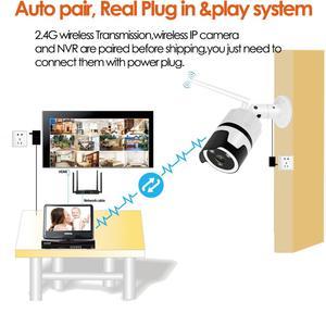 Image 5 - 8CH الصوت الحديث HD اللاسلكية LCDNVR عدة P2P 1080P داخلي في الهواء الطلق الأشعة تحت الحمراء للرؤية الليلية الأمن 2.0MP IP كاميرا واي فاي نظام الدائرة التلفزيونية المغلقة