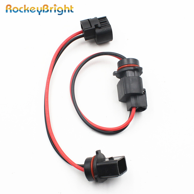 Rockeybright Adapter P13W Harness-Connector 2x Socket-Adapters-Holders 2504/PSX24W Female