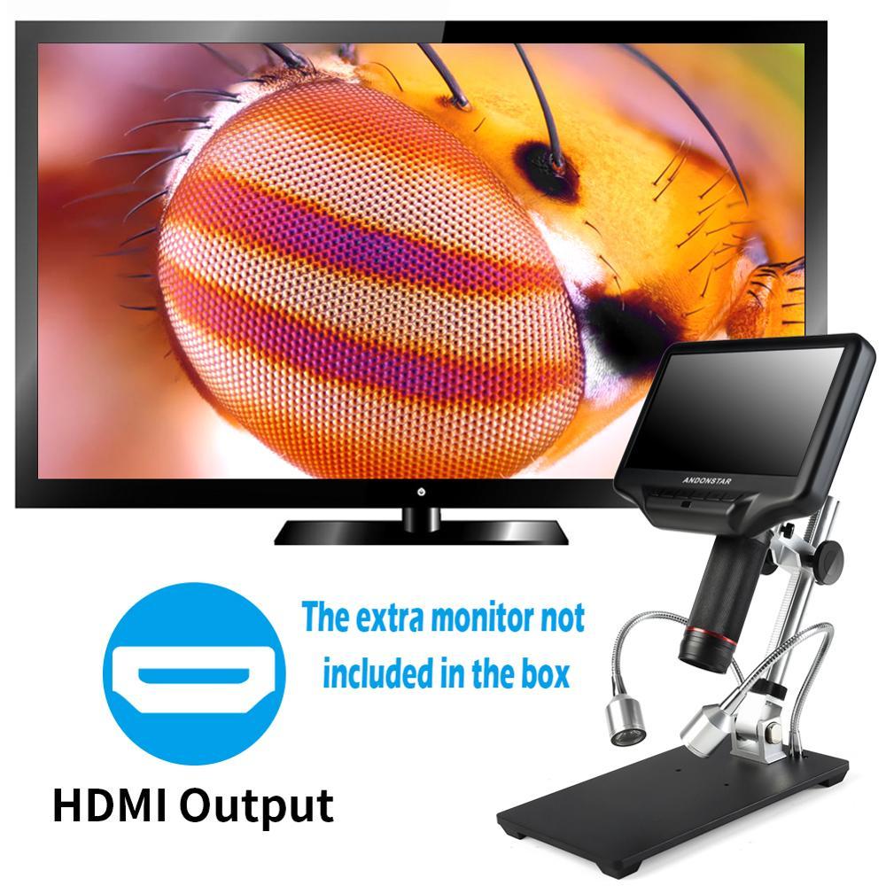 Andonstar 3d microscópio digital hdmi longo objeto distância para o reparo do telefone móvel ferramenta de solda bga smt w