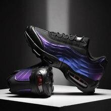 Nova moda homens correndo sapatos respirável esportes ao ar livre almofada de ar tênis andando correndo sapatos fitness homem formadores calçados