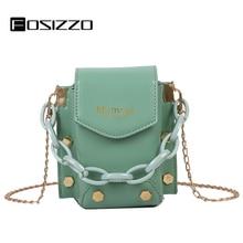 FOSIZZO Handbags For Women PU Fashion Design Bucket Bag Small Black Handbag 2020 Design Crossbody Bag Female Shoulder Bag FS5084 fashion checked and black design women s shoulder bag
