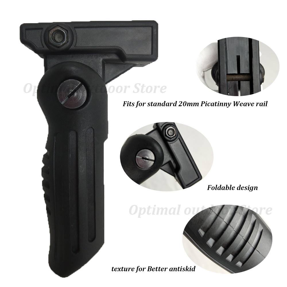 NEW Foldable Hunting Bipod Vertical Foregrip For Picatinny Weaver Rail
