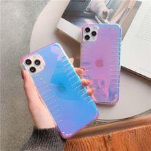 Luxury Pink Clear Anti-fall Phone Case for Iphone 11 Pro Max X Xr Xs Max 7 8 Plus Simple Cute Soft Smooth Girl Style Back Cover(China)