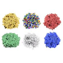 10MM Five-Pointed Star Confetti Birthday Party Paper Scrap European Style Wedding Supplies 1000Pcs/Bag