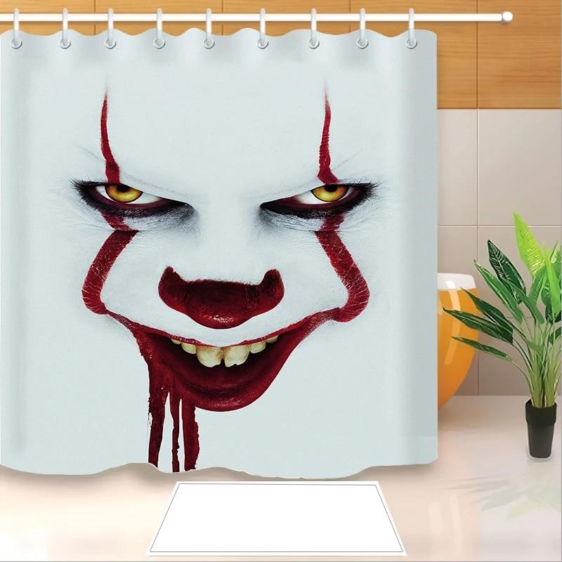 stephen king s it 3d print horror movie joker shower curtain polyester fabric bathroom curtain waterproof hook bath curtain 01