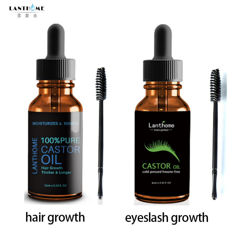 Lanthome Castor Oil Eyelash Growth Treatment For Natural Hair Growth Care Eyebrow Enhancer Eyelash Lifting Lengthening Serum