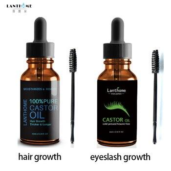 lanthome Castor Oil Eyelash Growth Treatment for Natural Hair Growth Care Eyebrow Enhancer Eyelash Lifting Lengthening Serum