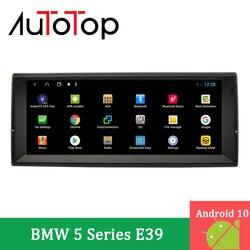 Автомагнитола AUTOTOP, 2 din, 10,25 дюйма, Android 10,0, для E39 5 серии 1996-2003 с BT, GPS-навигацией, MirrorLink, DSP, 4G, Carplay