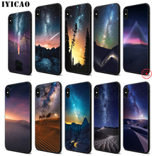 IYICAO Desert stars sky Soft Black Silicone Case for iPhone 11 Pro Xr Xs Max X or 10 8 7 6 6S Plus 5 5S SE iyicao riverdale soft black silicone case for iphone 11 pro xr xs max x or 10 8 7 6 6s plus 5 5s se