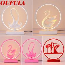Oufula художественная настольная лампа из смолы Современное