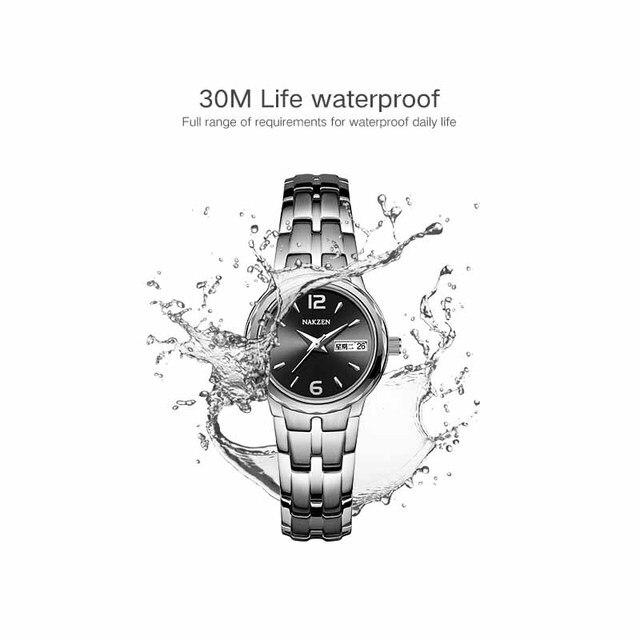 Фото часы наручные nakzen мужские кварцевые брендовые роскошные водонепроницаемые