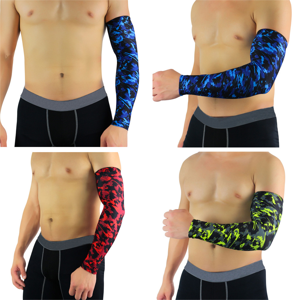 Supports Fitness Protection Arm Sleeve Camouflage Pattern Protective Gear 1 PC