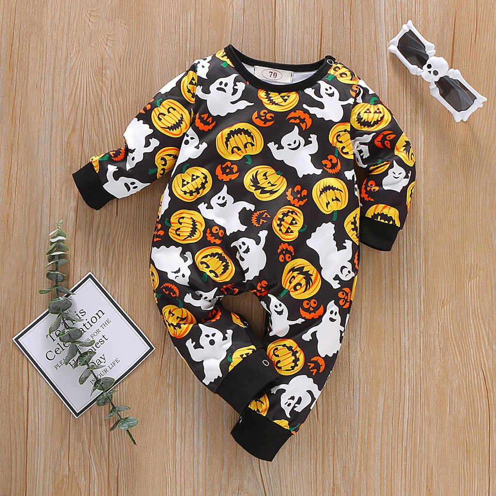 新生児幼児ベビー少年少女ハロウィンカボチャ衣装ロンパースジャンプスーツ服ハロウィンベビー少女の新生児服