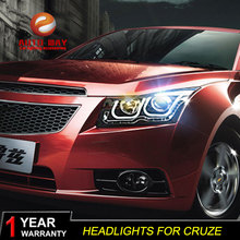 Car Styling Head Lamp case for Chevrolet Cruze 2009-2013 Headlights LED Headlight DRL Lens Double Beam Bi-Xenon HID Accessories cdx car styling for nissan teana led headlight 2012 altima headlight drl lens double beam h7 hid xenon bi xenon lens