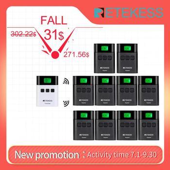 цена на RETEKESS TT122 Wireless Tour Guide System 1 Transmitter+ 10 Receivers for Church Factory Training Tour Guide Goverment Meeting