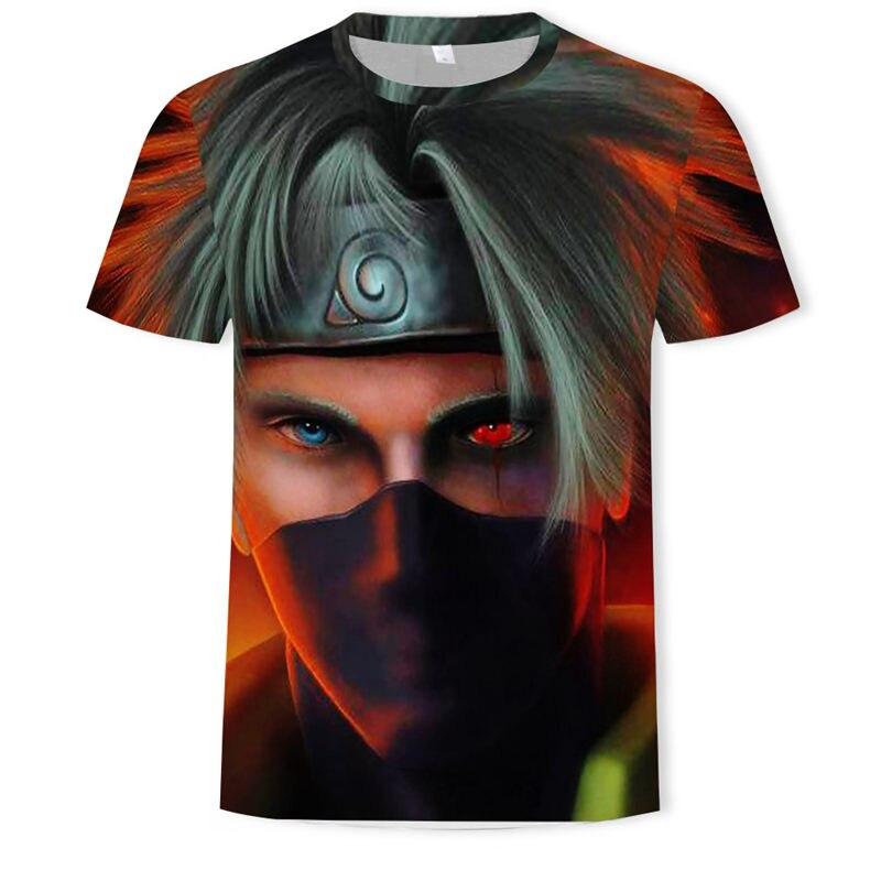 Повседневная Женская/мужская футболка в стиле хип-хоп, аниме Наруто, Akatsuki, короткий рукав, Забавный 3D принт, футболка, летние топы, футболки