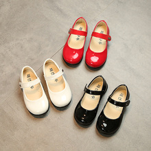 2020 Spring New Childrens Girls shoes black student Leather shoes