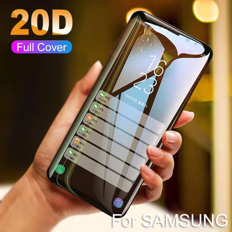20D Curved Full Cover Protective Tempered Glass For Samsung S10 S8 S9 Plus Note 8 <font><b>9</b></font> 10 + 10+ Screen Protector Glass Film For <font><b>S</b></font> 8 image