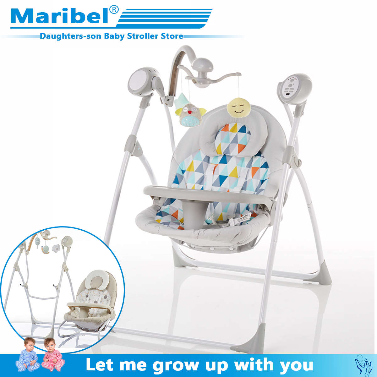 Baby Rocking Chair Baby Electric Rocking Chair To Appease The Cradle Bed Children's Dining Chair Rocking Chair With Remote Cont