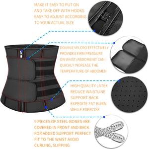 Image 5 - Ceinture fourreau en Latex amincissante pour femme, entraînement de taille, Corset pour Sauna, réduit la transpiration