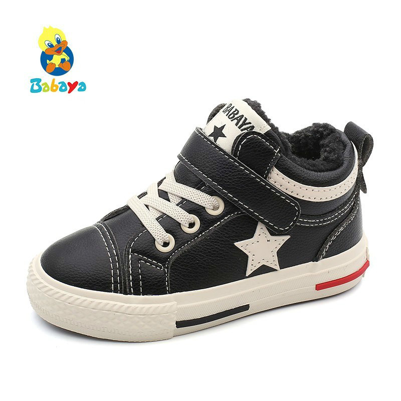 2019 Winter Children Cotton-padded Shoes Girls And Boys Boots Thickening Warm Winter Shoes Fashion Kids Casual Shoes Waterproof