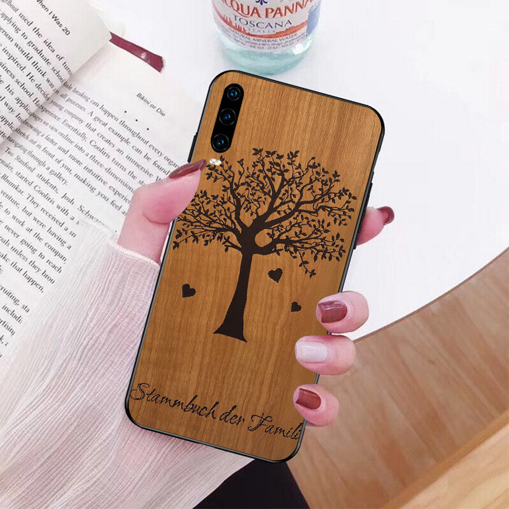 Modello di legno texture Volpe Dente di Leone Mandala Cassa Del Telefono per Huawei P9 10 lite P20 pro lite P30 pro lite Psmart compagno di 20 pro lite