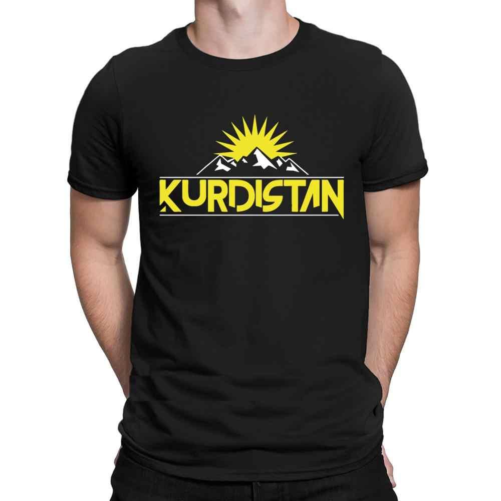 쿠르디스탄 국가 쿠르드어 플래그 t 셔츠 참신 짧은 소매 귀여운 옴므 t 셔츠 남성용 크리 에이 티브 들뜬 햇빛 티 셔츠