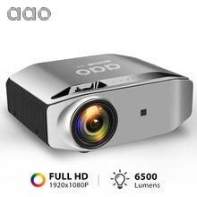 AAO YG620 1080P mini android projetor full hd portatil video projector android  smartphone pra celular movil  projetores de home cinema em casa beamer sem fio wifi 6500lumens sincronização sem fio wifi  filme jogos