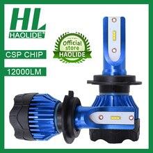 /HL LED หลอดไฟหน้ารถสำหรับ H1 H4 H7 H8 H9 H11 9005 HB3 9006 HB4 12000LM 6500K 4300K หลอดไฟ LED อัตโนมัติโคมไฟรถจักรยานยนต์ไฟ