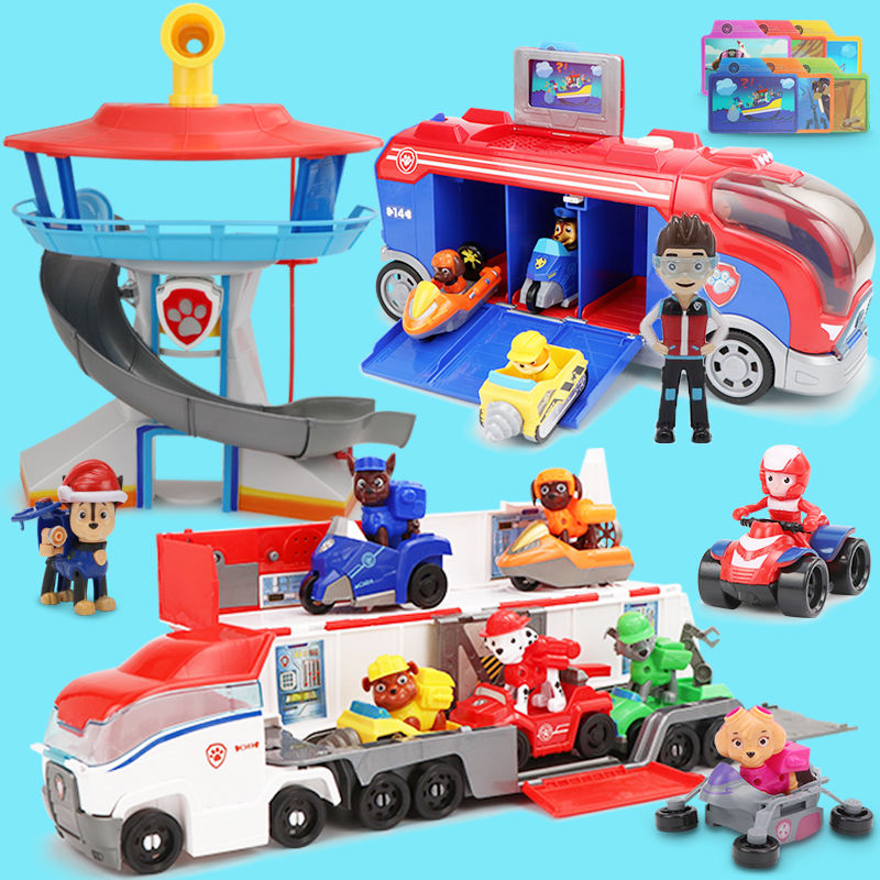 Genuine Paw Patrol Vehicle Plastic Car Playset Observatory Toys Set Toys Ryder Action Figures Juguetes Toys Kids Children Toys