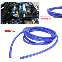 цена на Blue Car Vacuum Hose Silicone Fuel Line Tube Gas Oil 3MM ID Fitting Replacemen