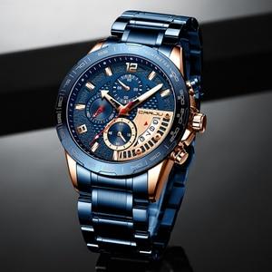 Image 3 - CRRJU 2020 Fashion Stainless Steel Mens Watches Top Brand Luxury Business Luminous Chronograph Quartz Watch Relogio Masculino