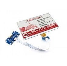 Waveshare 800*480, chapeau daffichage e ink 7.5 pouces pour Raspberry Pi 2B/3B/Zero WThree couleur: rouge, noir blanc, Interface SPI, pas de rétro éclairage