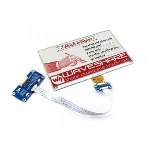 Image 1 - Waveshare 800*480, chapeau daffichage e ink 7.5 pouces pour Raspberry Pi 2B/3B/Zero WThree couleur: rouge, noir blanc, Interface SPI, pas de rétro éclairage